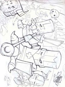 castle-crashers-coloring-pages-7