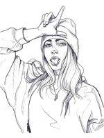 Billie-Eilish-coloring-pages-3
