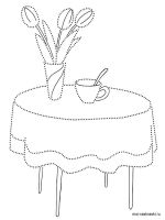 Kitchen-Table-coloring-pages-4