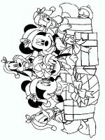 Mickey Mouse Christmas Coloring Pages Free Printable