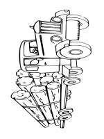 log truck coloring pages free printable log truck