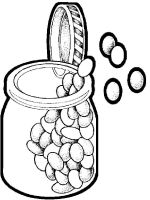 Vegetables-Beans-coloring-page-1