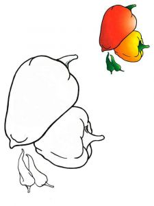 Vegetables-Pepper-coloring-page-1