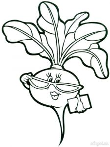 Vegetables-Turnip-coloring-page-1