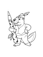 coloring-pages-Beaver-2