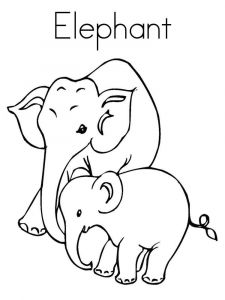 coloring-pages-animals-elephant-1