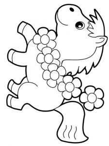 coloring-pages-animals-horse-8