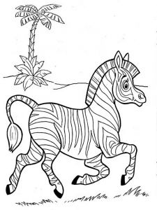coloring-pages-animals-zebra-1