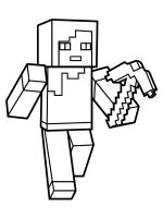 Free Minecraft Steve coloring pages. Download and print ...