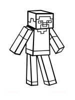 Minecraft-Steve-coloring-pages-4
