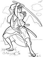 coloring-pages-Samurai-8