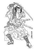 coloring-pages-Samurai-9