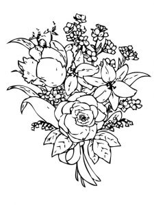 Flower-Bouquet-coloring-page-19