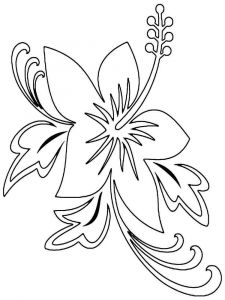 Hibiscus-flower-coloring-pages-4