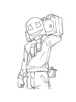 Marshmello-Fortnite-coloring-pages-11