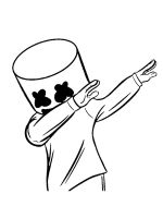 Marshmello-Fortnite-coloring-pages-16